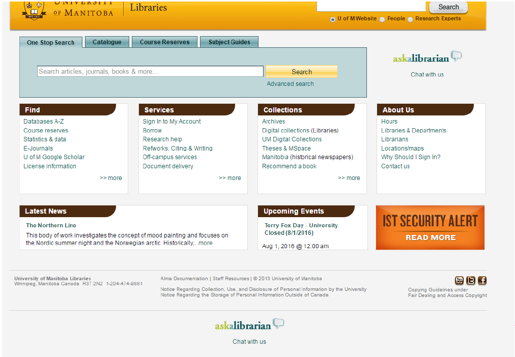 A screenshot of a website built in red dot, with very small text, too many links, and little visual appeal.